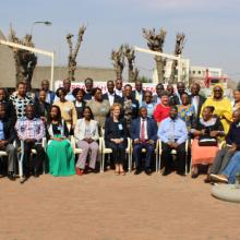 The participants from eight countries who joined the regional seminar in Lesotho on the Marrakesh Treaty on 12-13 September 2017. Photo credit: Lesotho National Commission for UNESCO.