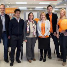 A group of OA week 2013 celebrants at the University of Tartu with EIFL-OA Manager, Iryna Kuchma