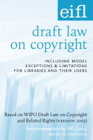 Photo of the EIFL draft law booklet cover.