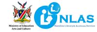 NLAS logo, linked to Namibia Ministry of Education logo