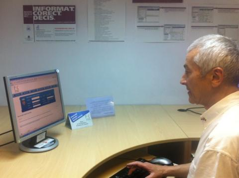SUCCESSFUL SEARCH:  Chisinau pensioner Vitalie Vitcovschi successfully used the Public Law Library's legal database to find a section of a local regulation.