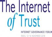 Logo of the IGF with the theme The Internet of Trust