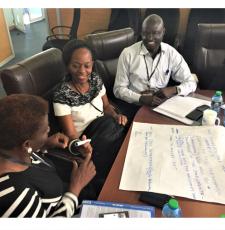 Ugandan participants at the EIFL-PLIP statistics and evaluation workshop in Nairobi, Kenya.