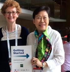 EIFL Copyright and Libraries Programme Manager, Teresa Hackett, with Soeythip Sukul, EIFL's Country Coordinator in Thailand.