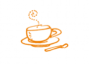 drawing of a coffee cup - representing a coffee break