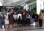 Group photo of repository managers at a worksop in Nairobi.