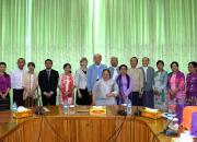 Myanmar and EIFL delegates posing after the signing ceremony.