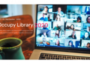 Screen sot of the Occupy Library 2020 website home page