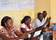 Trainees at a training session.