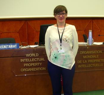Barbara Szczepańska, EIFL-IP coordinator in Poland, participates in negotiations at the World Intellectual Property Organization in Geneva