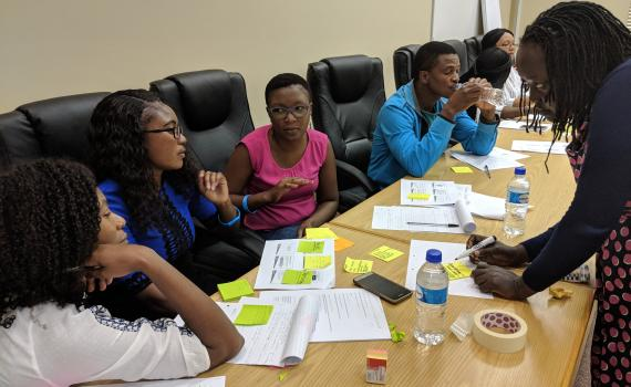 A group of public librarians attending project management training in February 2019.