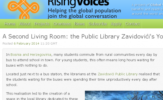 Rising Voices: A Second Living Room: the Public Library Zavidovici\'s ...