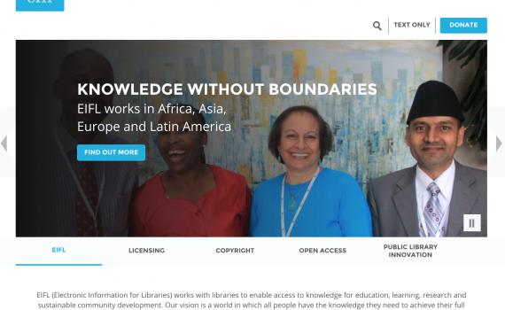 Photo of screenshot of the homepage.