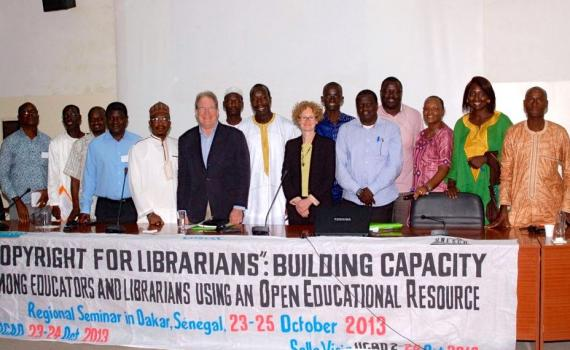Participants in a COBESS copyright seminar